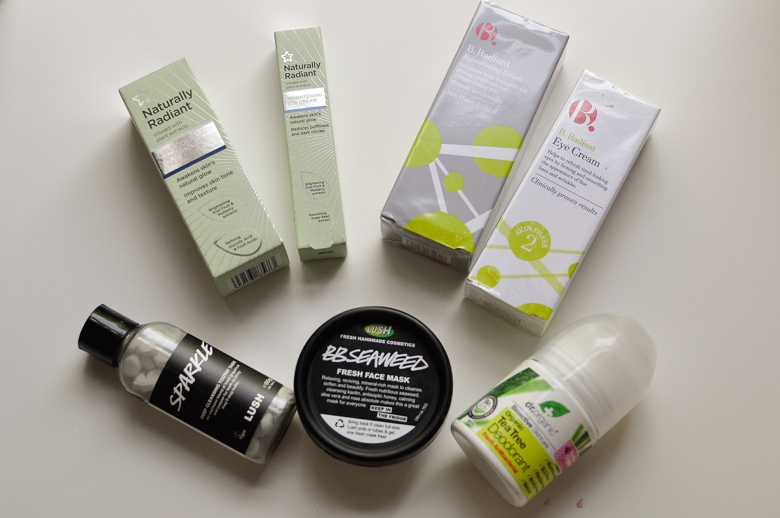 Cruelty free skincare, deodorant and toothpaste