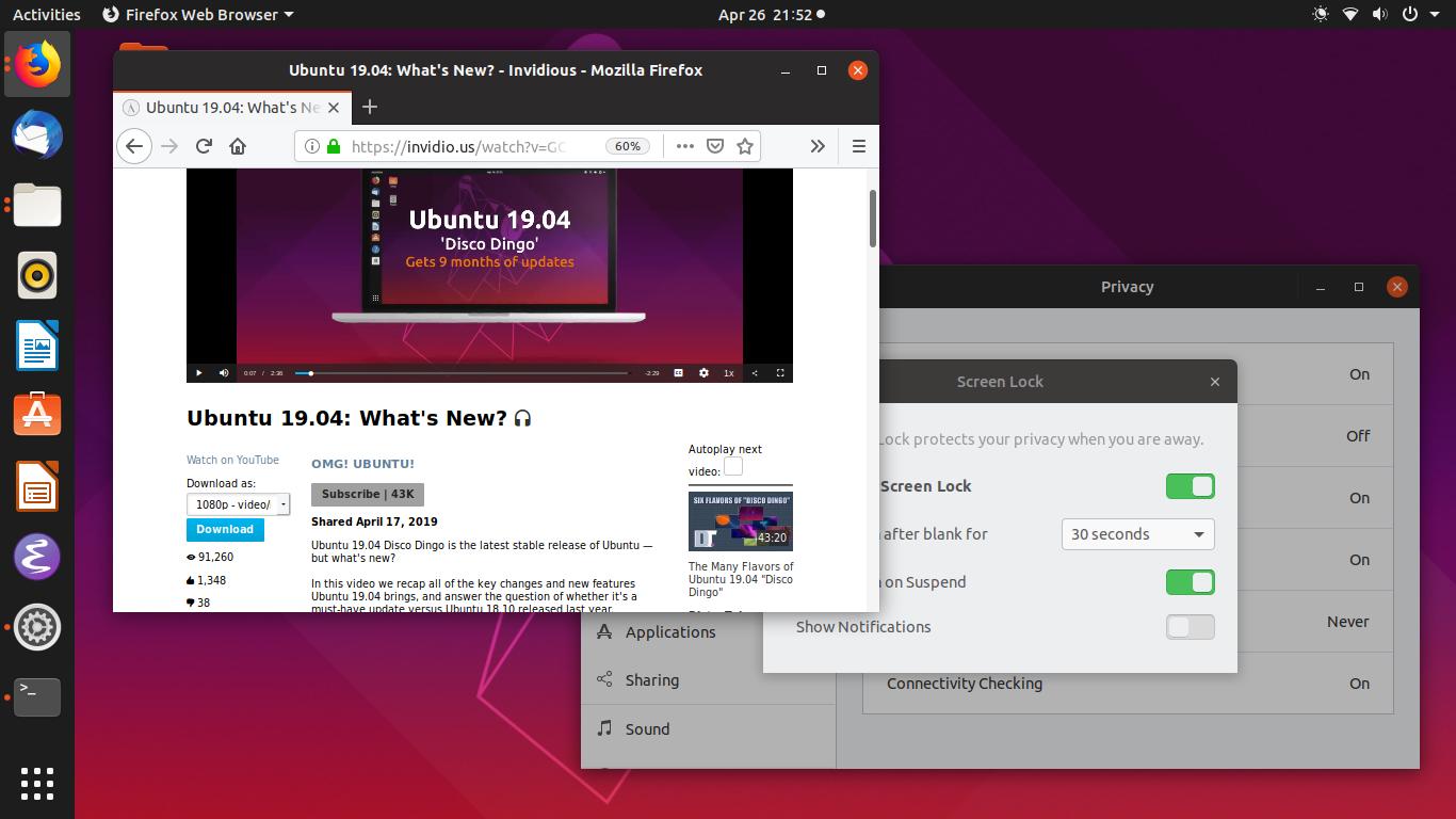Ubuntu Buzz !: Privacy Tips and Tricks for Ubuntu 19 04