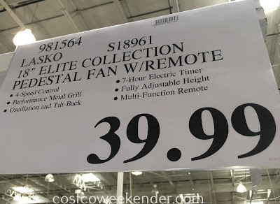 Deal for the Lasko S18961 Elite Collection 18in Pedestal Fan at Costco
