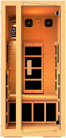NH Lifestyles Joyous 1-Person Far Infrared Sauna with 6 Carbon Fiber Heaters, Canadian Hemlock Wood