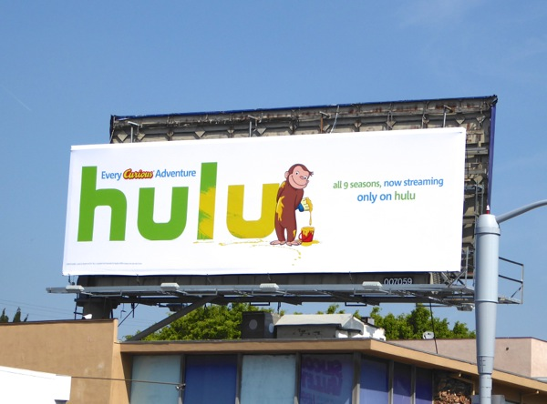 Curious George Hulu billboard