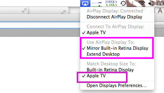 Stream to AirPlay enabled Display