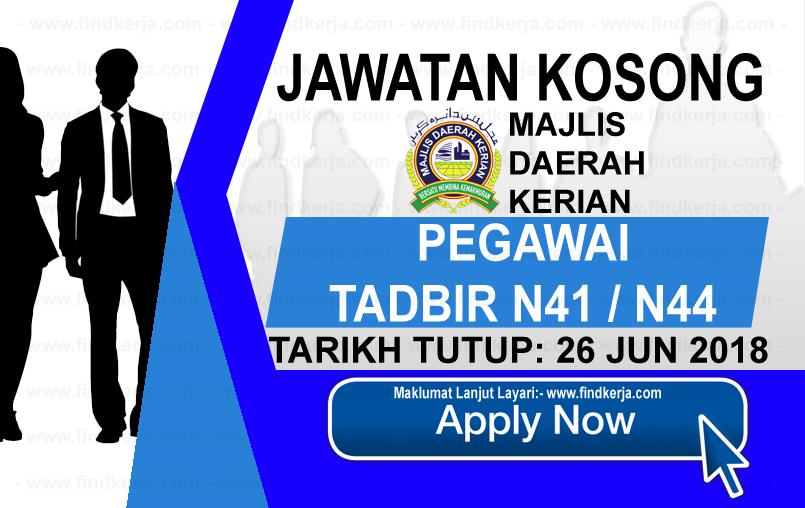 Jawatan Kerja Kosong Majlis Daerah Kerian logo www.findkerja.com jun 2018