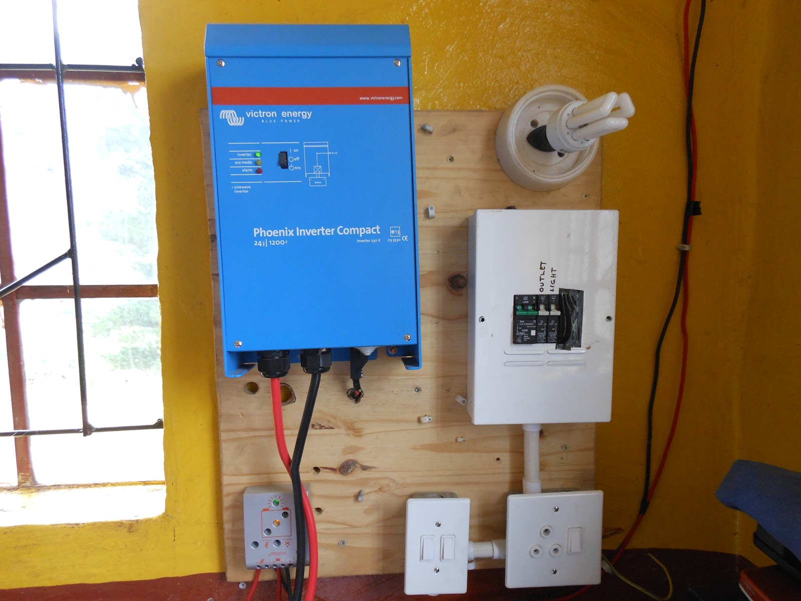 Laptops To Lesotho Blog Pictures Of The Electrical System At Nohana Circuit Breaker Panel Electrician In Phoenix Board With Inverter Regulator 12 Kw Sine Wave 24v 20a