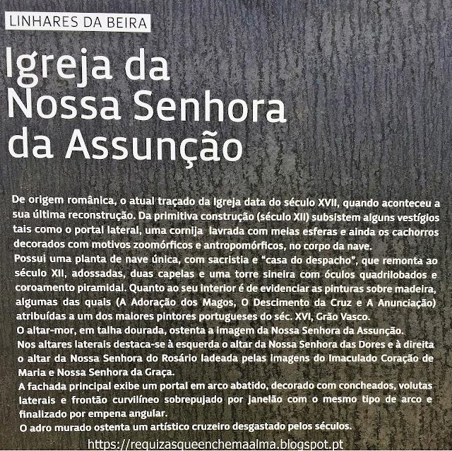 Igreja Matriz Nª Srª da Assunção Linhares da Beira