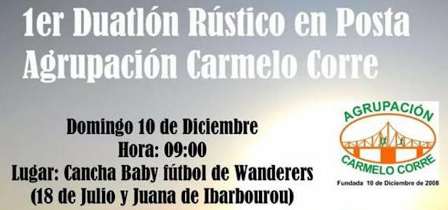 Duatlón rústico en posta en Carmelo (Depto. Colonia, 10/dic/2017)
