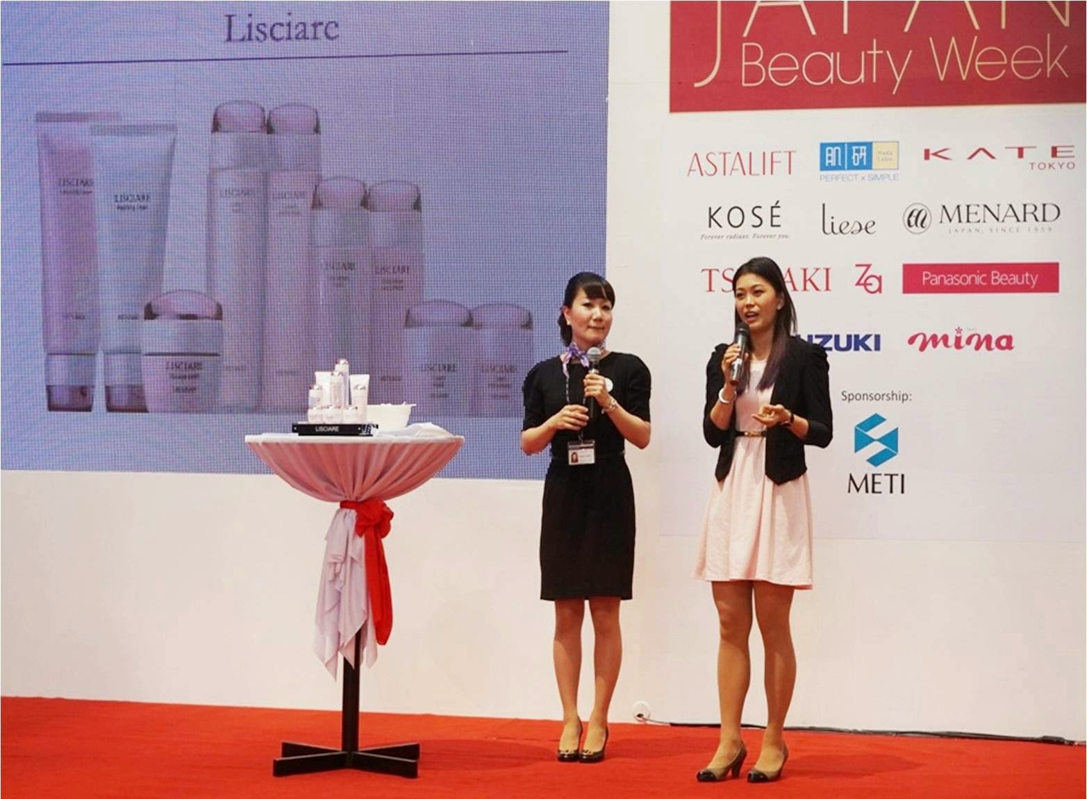 Japan Beauty Week, on stage sharing, presentation, demo, sunshine kelly, beauty tips, beauty blogger, menard, skincare, japan, ayumi, japan facial