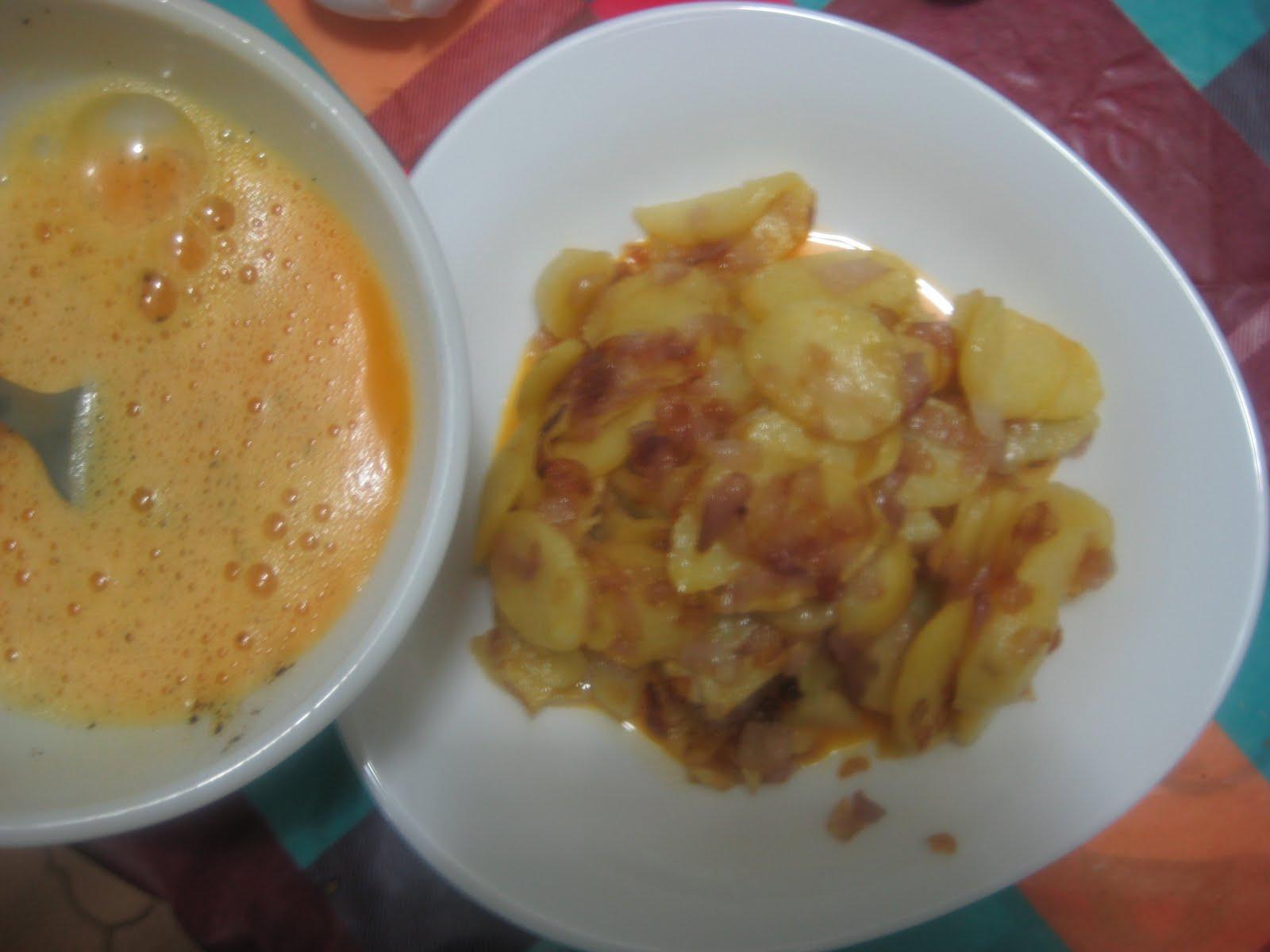 omelette espagnole aux pommes de terre
