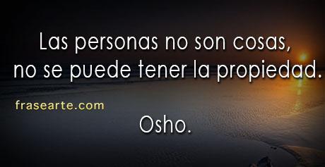 Las personas no son cosas - Osho