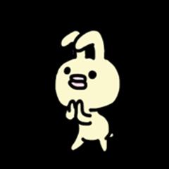Cute self-indulgence bunny