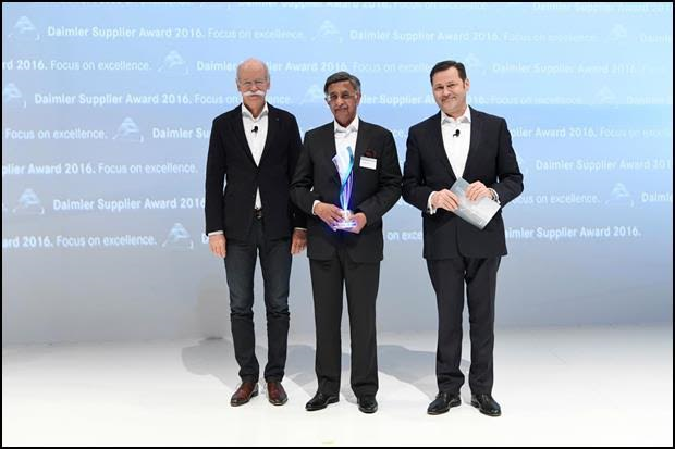 Bharat Forge awarded Daimler Supplier Award 2016