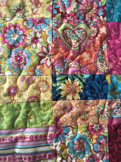 sweet hearts disappearing nine patch freemotion quilting