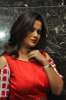 Shilpa Chakravarthy looks super cute in Red Frock style Dress 014.JPG