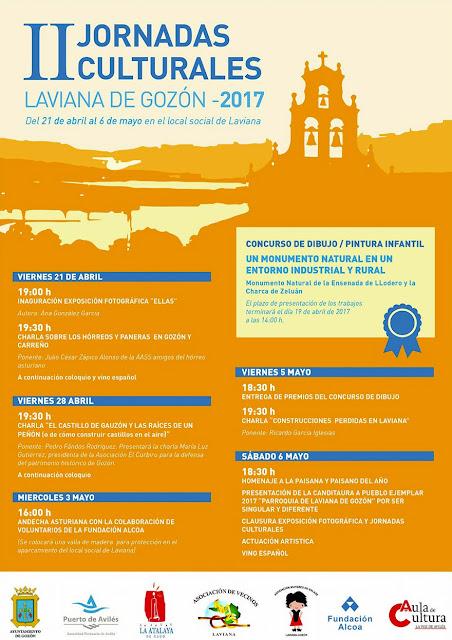 Cartel de las II Jornadas culturales de Laviana, Gozón