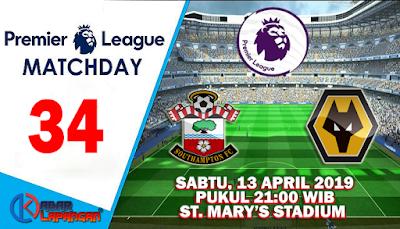 Prediksi Bola Southampton vs Wolverhampton 13 April 2019