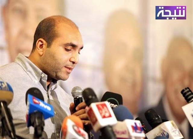 رسيما هانى العتال نائب رئيس نادى الزمالك فى انتخابات النادى اليوم ونجاح مرتضى منصور