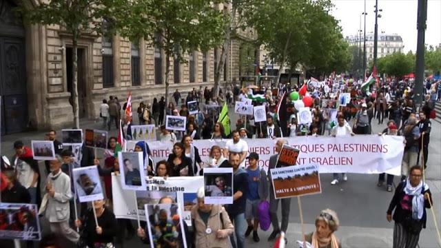 Se manifiestan en Francia por el derecho al retorno de palestinos