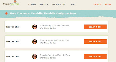 Tinkergarten Classes Scheduled for Franklin in September