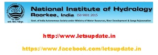 Recruitment of various posts in National Institute of Hydrology. Research Scientist , Resource Person (Junior), Research Scientist , Junior Research Fellow, Resource Person (Senior), Research Associate , Junior Research Fellow, Senior Research Fellow , Research Associate , JRF/ SRF , Resource Person (Jr.)  and Junior Research Fellow., letsupdate, naukri , job, timeto get job,