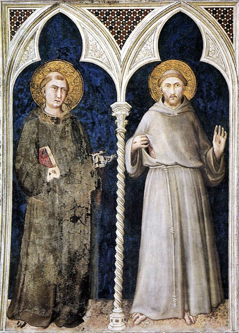 Ad imaginem dei st anthonys image and when it got that way simone martini st anthony of padua and st francis of assisi italian 1317 assisi basilica of san francesco biocorpaavc