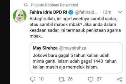 Kapok! Diduga Menista Islam, Pemilik Akun Twitter Ini Ketakutan Setelah Dimention Fahira