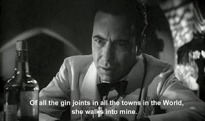 of all the gin joints in all the towns in all the world she walks into mine casablanca rick blaine humphrey bogart bogey