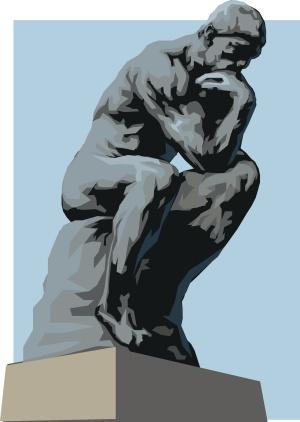 Le Penseur de Rodin (dessin)