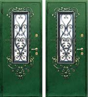 """Дверь с ковкой """"Амор"""""""