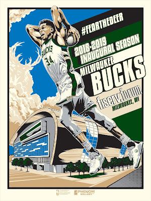 Milwaukee Bucks Fiserv Forum Inaugural Season Screen Print M. Fitz x Phenom Gallery
