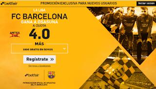 betfair supercuota 4 Barcelona gana Osasuna Liga 26 abril