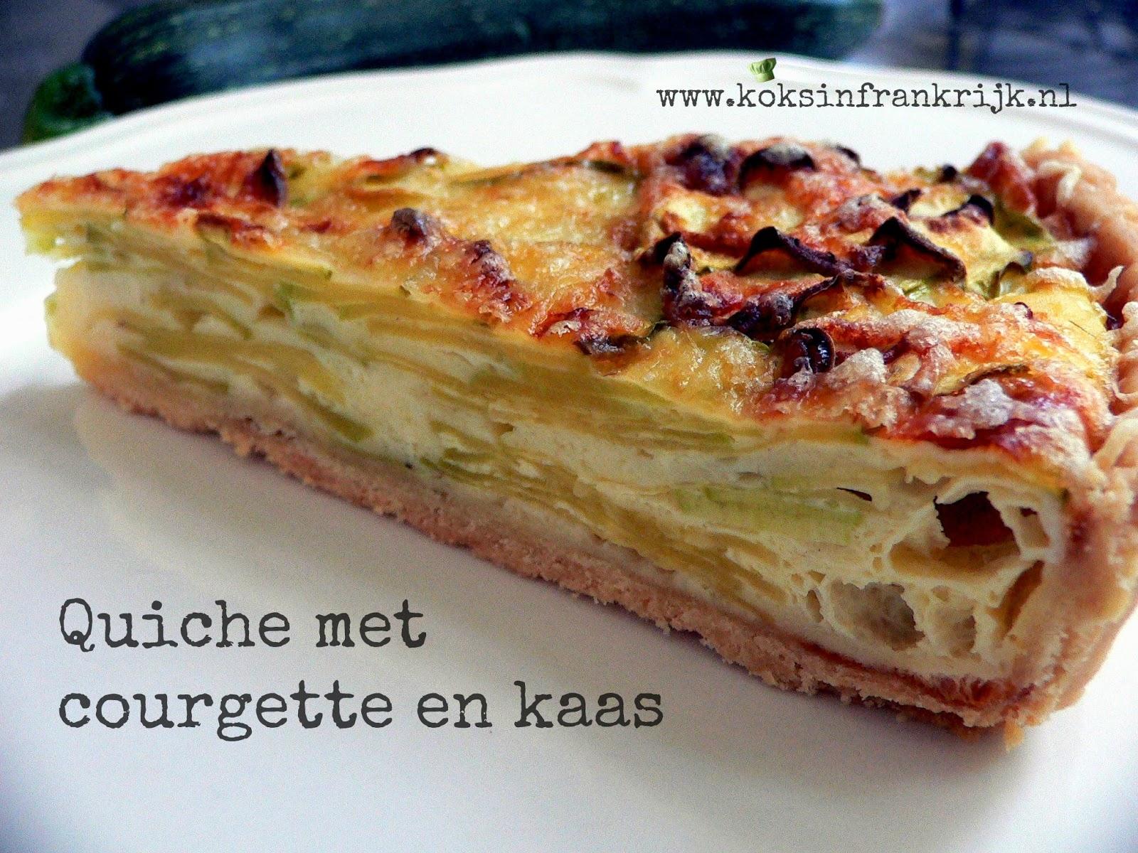 Recept voor quiche met courgette