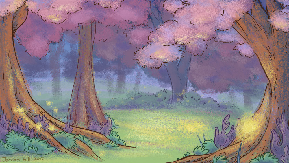 Jordan Hill Animation Illustration Background Art Dreamy Forest