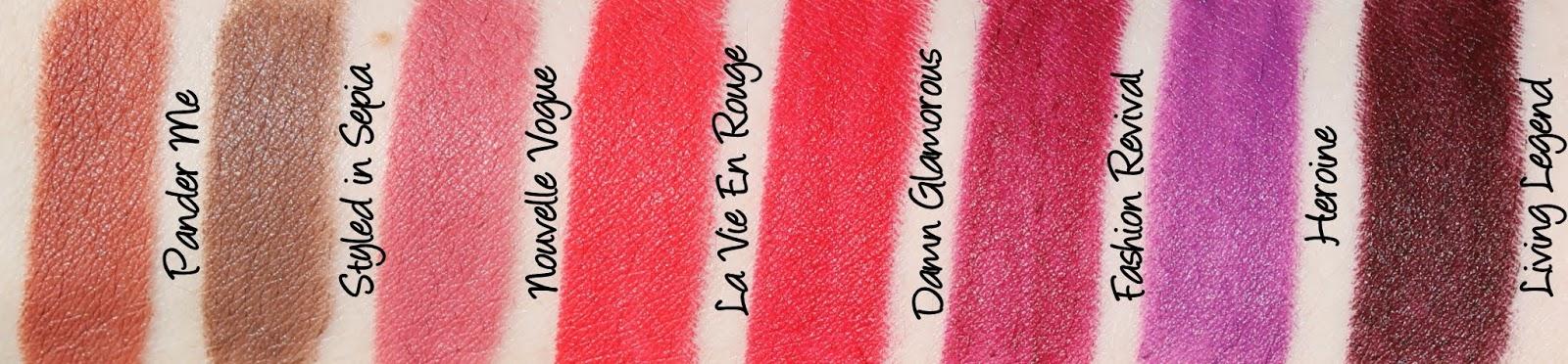 MAC Monday: The Matte Lip Lipsticks Swatches & Review