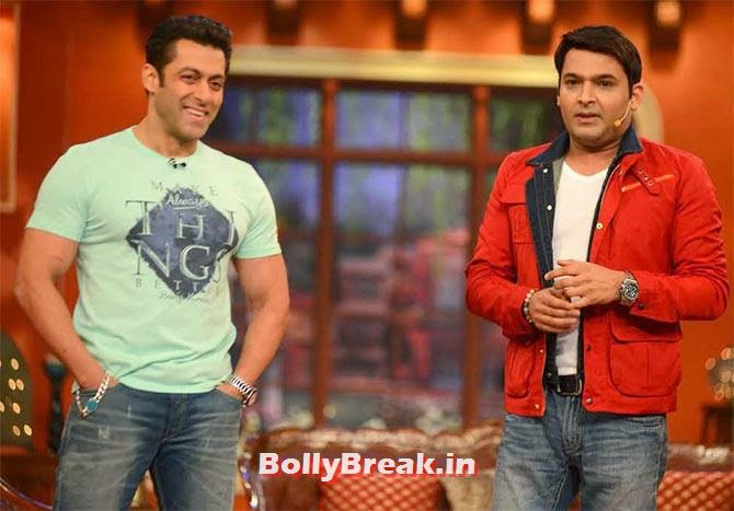 Salman Khan and Kapil Sharma in Comedy Nights With Kapil, Top 10 TV Shows 2014, Serials in Indian