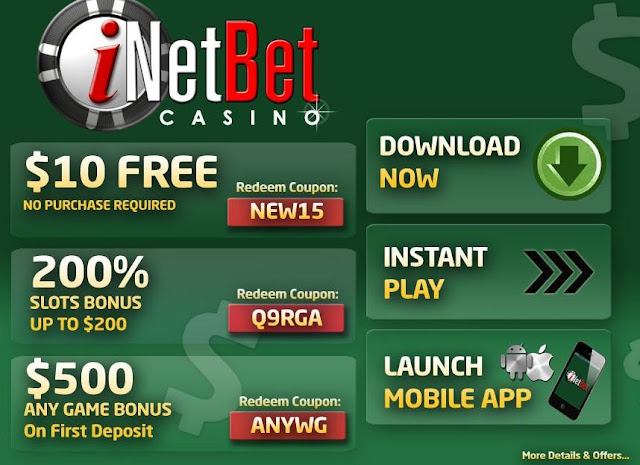 iNetBet USD Casino Welcome Bonus Offers