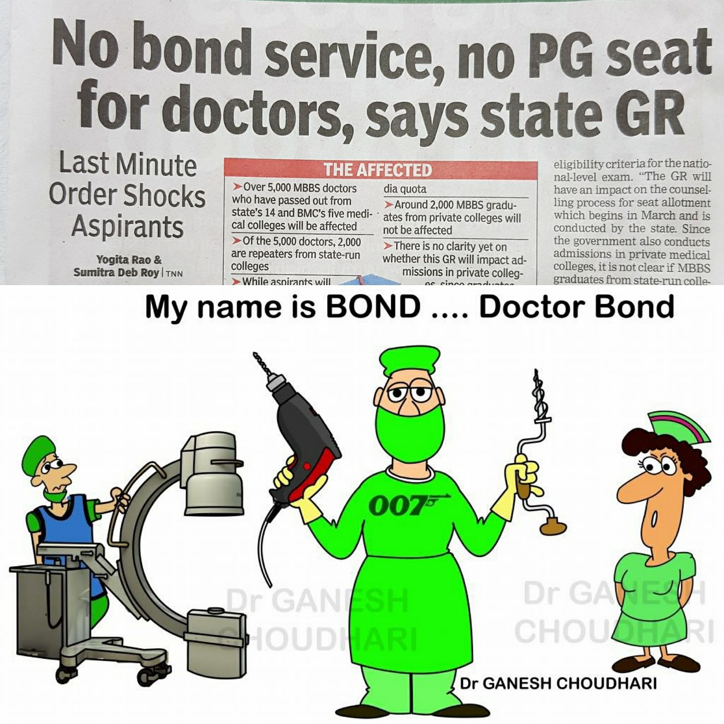 The irony of PG Medical Training in India by Dr Chiranjeevi