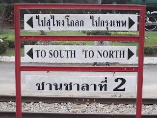 Ricfhtungsanzeige Bahnhof Hua Hin