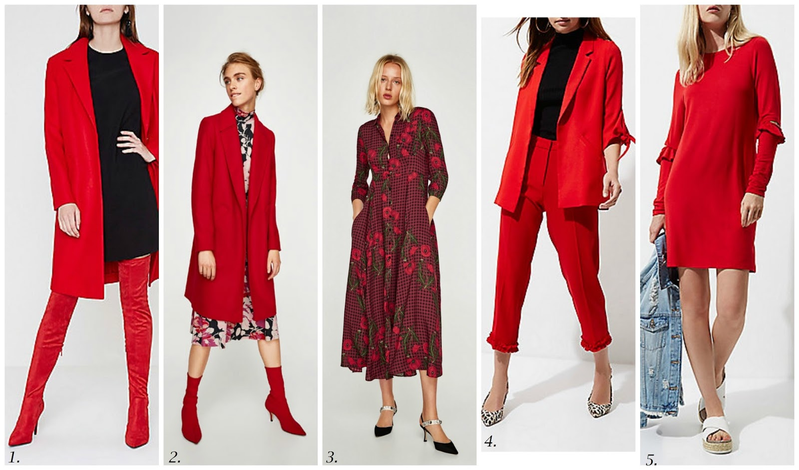 AW 17 Trend Focus - Red To Toe - How To Get The Look On The High Street - 3