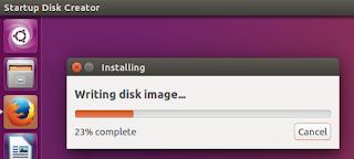 Cara Membuat bootable Flashdisk Ubuntu dengan platform Linux (ubuntu)