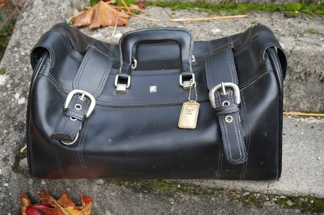sac de voyage Favo 60s Favo travel bag 1960s black carry on