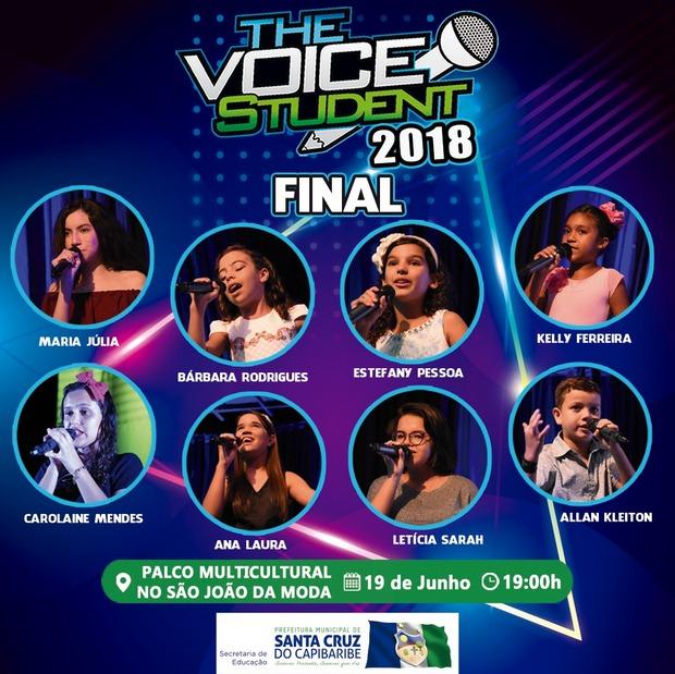 Final do The Voice Student 2018 será na terça-feira (19), no Palco Multicultural do São João da Moda