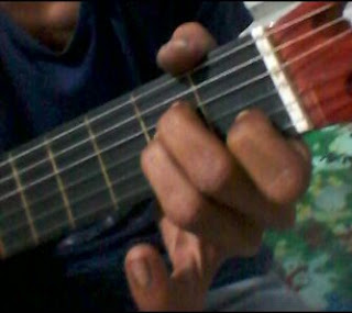 Gambar Chord gitar A minor