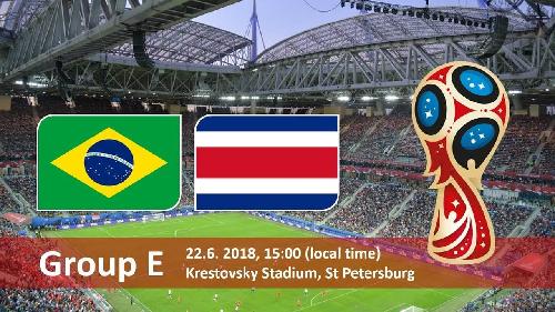 فوز  البرازيل على كوستاريكا 2-0 في لقاء مثير