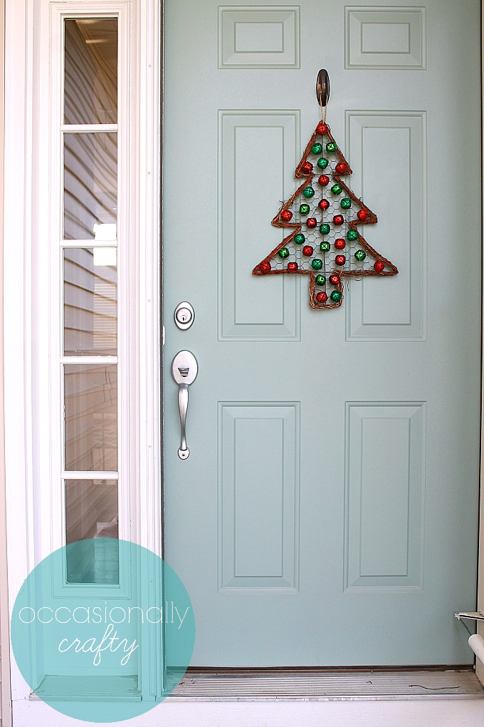 Jingle Bell Christmas Tree Door Hanger