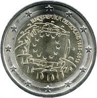 2€ Drapeau Européen 2015 Allemagne