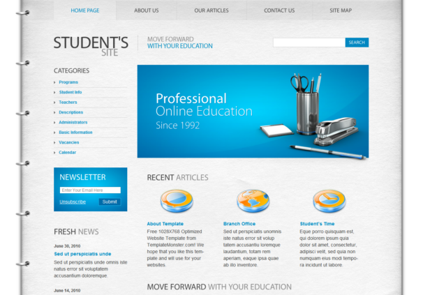 Free Html5 Css3: Html5 Template : Student