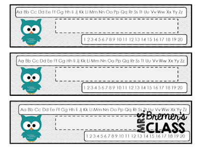 FREE owl themed nameplates for the classroom!