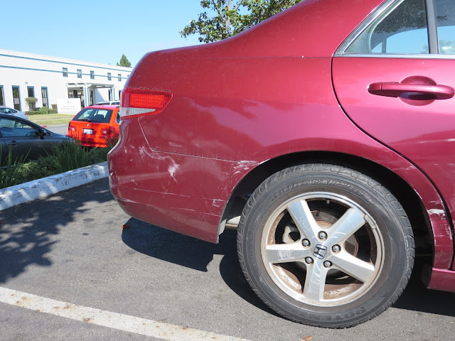 Accident damage before repairs at Almost Everything Auto Body