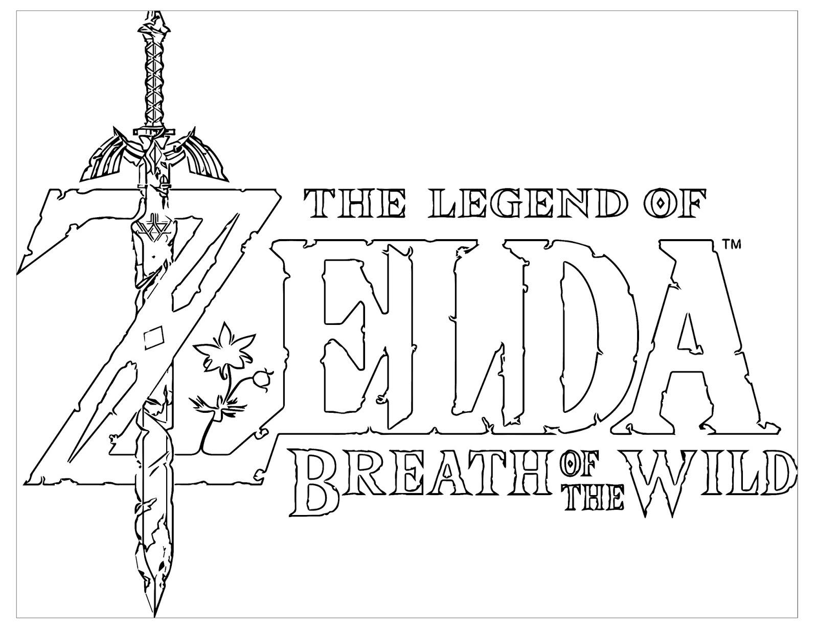 Zelda Breath Of The Wild Coloring Pages Coloring Pages Kids