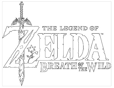 Legend of the Zelda Breath of the Wild coloring page